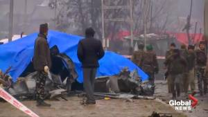 Suicide car bomber kills at least 30 police officers in Indian Kashmir