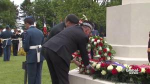 D-Day 75: Ceremonial wreaths laid at Canadian War Cemetery in France