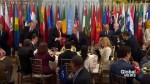 Trump, Trudeau and world leaders attend luncheon hosted by UN Secretary-General