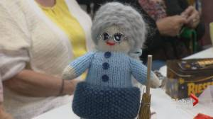 Calgarians knit 30,000 comfort dolls for children around the world: 'They're just thrilled'
