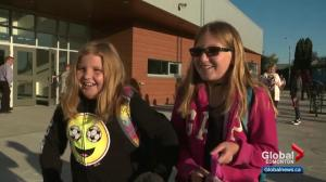 Many Alberta kids spend first day at brand-new schools