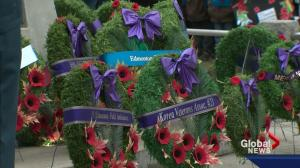 Remembrance Day at Edmonton's Beverly Cenotaph