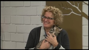 Happy Friday: Playful kitten an unwitting distraction during live TV interview in Peterborough.