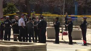 Numerous police and EMS on scene of fatal incident involving van in Toronto
