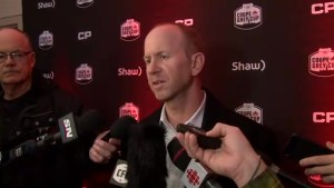 Dickenson says Stampeders ready to go for Grey Cup after being a 'little overconfident' last year