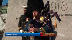Piper's Lament performed in Ottawa in honour of those lost in wars