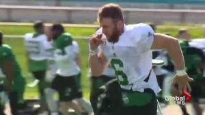 Saskatchewan Roughriders Rob Bagg showing he's a leader