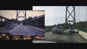 Then and Now:  Side-by-side videos drive through North Vancouver to Burnaby