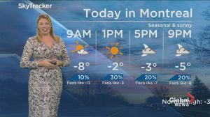 Global News Morning weather forecast: Wednesday, December 19