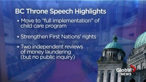 Highlights of NDP government throne speech