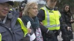 Green Party leader Elizabeth May arrested at B.C. anti-pipeline protest