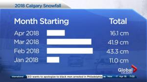 More snow for Calgary
