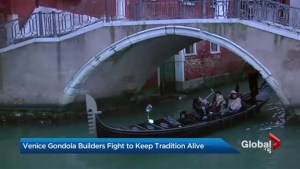 Gondola making a dying tradition