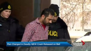 Man charged in fatal QEW crash released on bail