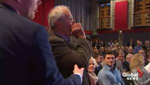 Theresa May heckled at Welsh conference