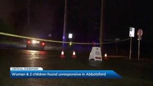 Woman, 2 children found unresponsive in Abbotsford