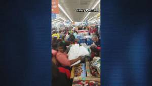 Shoppers go crazy for towels at Walmart on Black Friday