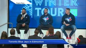 Blue Jays create buzz with visit to Edmonton