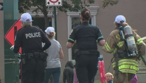 Edmonton first responders run half marathon in uniform