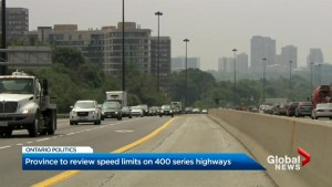 Province to review speed limits on 400-series highways