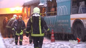 Authorities remove Moscow bus that swerved into pedestrian underpass