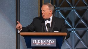 Sean Spicer makes appearance at 2017 Emmy Awards
