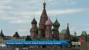 Russian hackers tried to attack British energy system