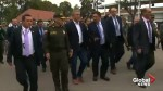 Colombia's President Duque visits scene of in car bomb at Colombian police academy