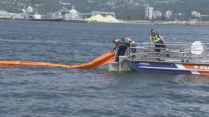 Major oil spill rehearsal in Vancouver Harbour