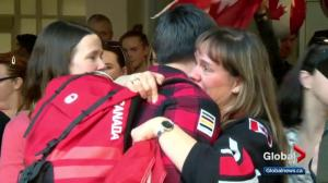 Calgary welcomes home Team Canada athletes