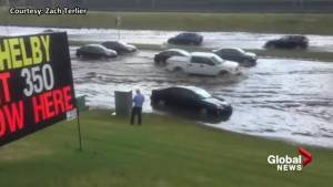 Viewer video: Flooding on MacLeod Trail and Canyon Meadows Drive