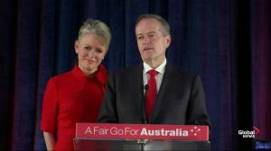 Australia Labor party leader Bill Shorten concedes defeat to Scott Morrison