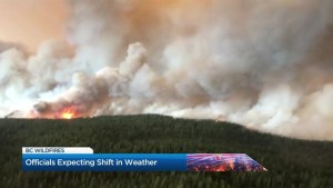 BC Wildfire: Officials expecting shift in weather