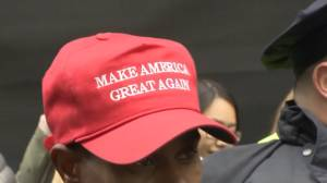 Trump supporters outside NY Trump Tower say they feel safer wearing red hats