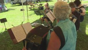Dozens of accordions fill Enderby with nostalgic music