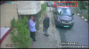 Security footage captures last time Saudi journalist seen entering embassy