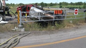 Truck driver could face several charges after tanker rollover near Odessa