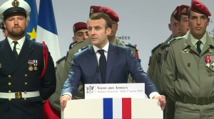 French president says death of 4 Americans in Syria show battle with ISIS will continue
