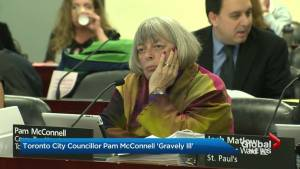 Toronto Councillor Pam McConnell 'gravely ill' (01:06)