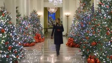 Melania Trump Promotes Campaign With White House Christmas
