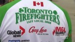 Ontario firefighters start a nearly 500-km ride to commemorate fallen comrades