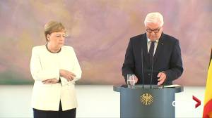 Germany's Merkel seen shaking as she met president