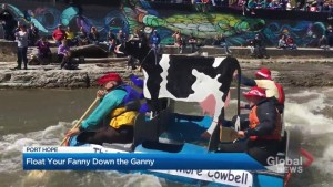 Thousands watch Float Your Fanny Down the Ganny in Port Hope