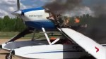 Plane catches fire after emergency landing at Edmonton-area airport