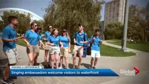 Singing ambassadors greet visitors along Toronto's waterfront