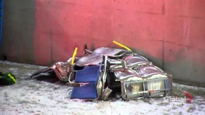 Debris lines transitway in Ottawa after fatal bus crash