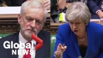 Jeremy Corbyn appears to call Theresa May a 'stupid woman' during heated Brexit exchange