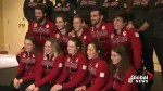 Canada presents Olympic short-track speed skating team
