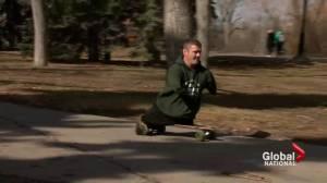 Calgary man proving disability won't hinder marathon goal