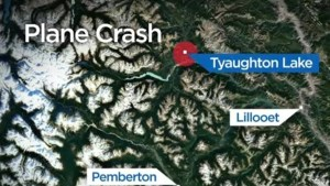 Float plane crashes into remote lake north of Pemberton